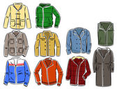 Set of men's jackets — Stock Vector