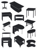 A set of tables — Stock Vector