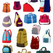 Stock Vector: Backpacks and bags