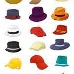 Summer hats for men — Stock Vector #23818083