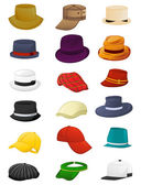 Summer hats for men — Stock Vector