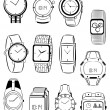 Men's watches - Stockvectorbeeld