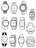 Men's watches — Vector de stock