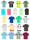 Summer shirts — Vector de stock