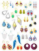 Earrings — Stock Vector