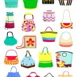 Stock Vector: Summer handbags
