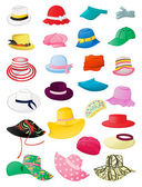 Summer hats — Vettoriale Stock