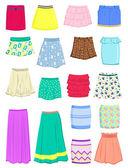 Summer skirts — Stock Vector