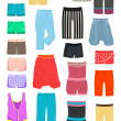 Women's shorts — Stockvektor