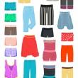 Women's shorts — Stock vektor