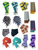 Male scarves — Stock Vector