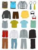 School clothes for boys — Stock Vector