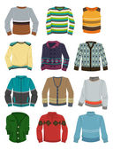 Men's sweaters — Vector de stock