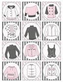 Women's clothing — Stock Vector