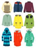 Youth men's jackets — Stock Vector
