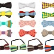 Set of bow ties — Stock Vector