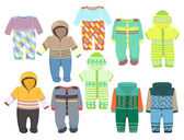 Overalls for boys — Stockvector