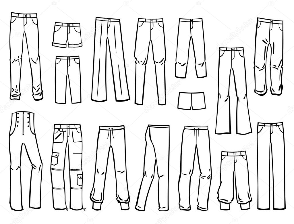 Женские брюки — Векторное ...: ru.depositphotos.com/40273163/stock-illustration-womens-pants.html