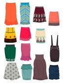 Office skirts — Stock Vector