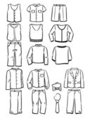 Contours school clothes for boys — Stock Photo