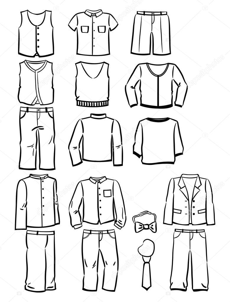 School Uniform Coloring Page
