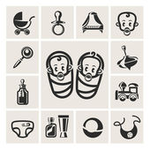 Baby icons set — Stock Photo