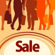 Stock Vector: Shopping sale poster