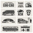 Taxi service set — Stock Vector