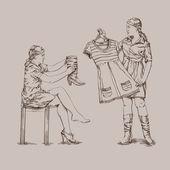 Dressing — Stock Vector
