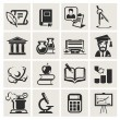 Royalty-Free Stock Vector Image: Education. Set of icons.