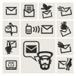 Message icons set — Stock Vector