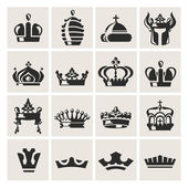 Crown icons set — Stock Vector