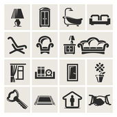 Icons of furniture — Stock Vector