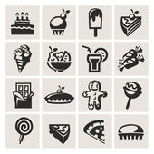 Collection of icons. Desserts. — Stock Vector