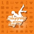 Shopping every day — Stock Vector