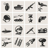 Ejército. iconos en vector — Vector de stock