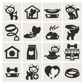 Pet shop. Set of icons vector — Stock Vector