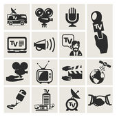 Reporter. Set of icons vector — Stock Vector