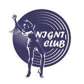Nightclub. Vector illustration — Stock Vector
