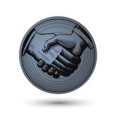 Handshake. Vector illustration — Stock Vector
