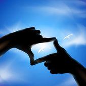 手和鸟类。矢量插画 — 图库矢量图片