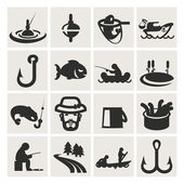 Set of icons. fishing — Stock Vector