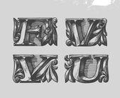 Font. Vector illustration — Stock Vector