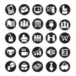Set of icons. business — Stock Vector