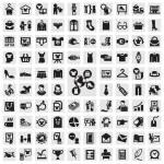 Reihe von Icons. Kleidung — Stockvektor