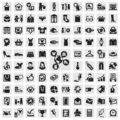 Conjunto de iconos. ropa — Vector de stock