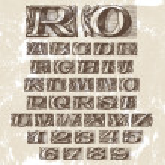 Постер, плакат: Vector Set Vintage Fonts