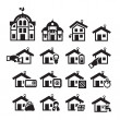 Home icons. Vector illustration — Stock Vector