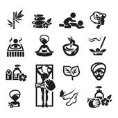 Conjunto de iconos de spa — Vector de stock