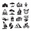 Recreation Icons. Vector illustration — Imagens vectoriais em stock